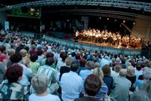 Orchestra in the Gorzow's amphitheater.